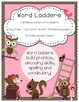 Word Ladders Puzzles - Differentiated
