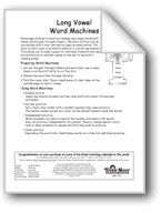 Word Machines: Long Vowels (long a/ay sound, long i/y sound)