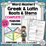 Greek and Latin Word Stems and Roots (Set 1) 20 Weeks of L