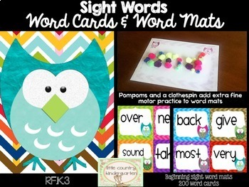 Word Mastery Bundle: Beginning Word Cards and Playdoh Mats