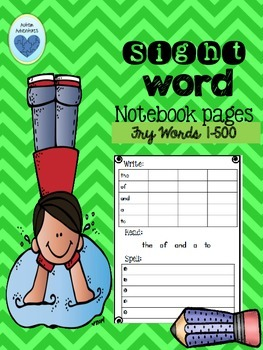 Word Mastery Notebook Pages: Words 1-500