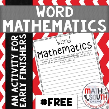 Word Mathematics - Fun Activity for Middle School