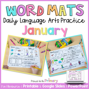 Word Mats Daily Language Arts Practice for January