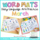Word Mats Daily Language Arts Practice for March