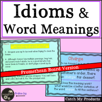 Word Meanings in Written Expressions for The Promethean Board