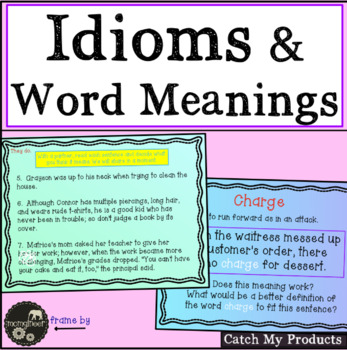 Idioms and Word Meanings in Written Expressions in Power Point