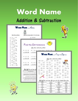 Word Name:  Addition & Subtraction