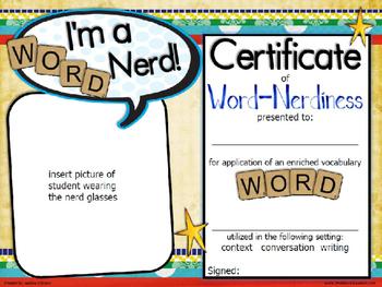 Word Nerd Certificate Template