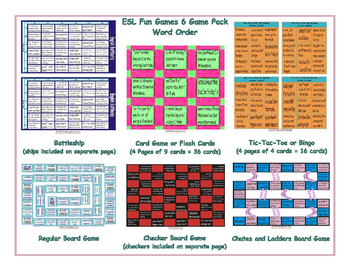 Word Order 6 Board Game Bundle