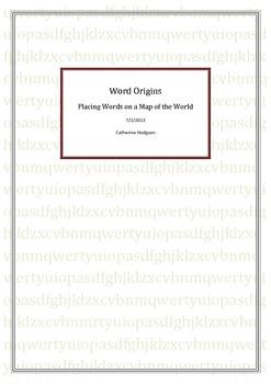 Word Origins - World Map Activity