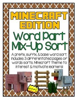 Word Part Mix-Up Minecraft Edition