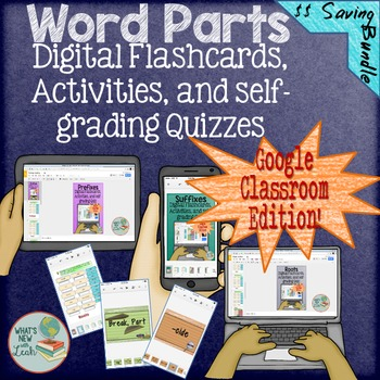 Word Parts Interactive Bundle for Google Classroom and One Drive