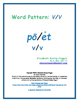 Word Pattern: V/V