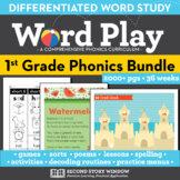 Word Play 1st Grade Phonics and Chunk Spelling Curriculum