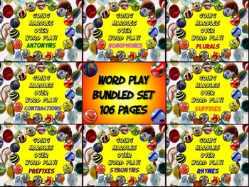 Word Play Bundled Set 80 PRINT and GO Worksheets 8 Posters