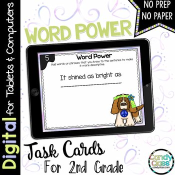 Word Power Task Cards for Google Use