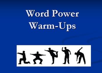 Word Power Warms Ups