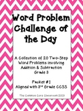 Word Problem Challenge for 3rd Grade-Aligned with CCSS-Two
