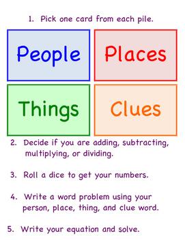 Word Problem Creation Board