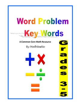 Word Problem Key Words