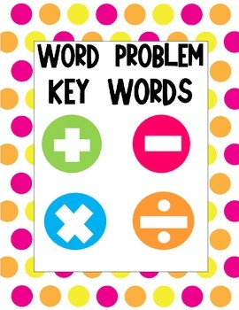 Word Problem Key Words Posters