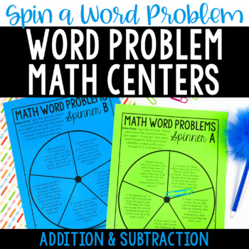 Word Problem Math Centers {Addition and Subtraction Word P