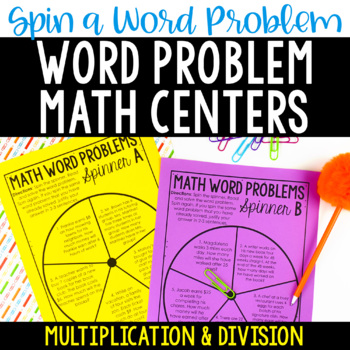 Word Problem Math Centers {Multiplication and Division Wor