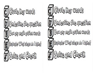 Word Problem Math Journal Notes