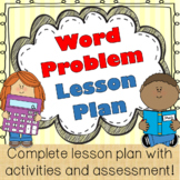 Story/Word Problems, Math Lesson Plan, using cognitively g
