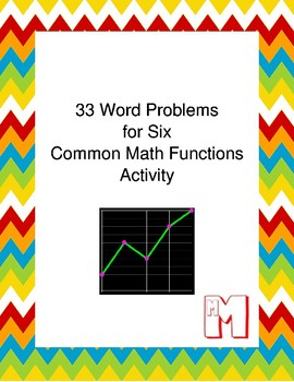 33 Word Problems for Six Common Math Functions Activity