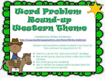 Word Problem Round-Up: Western Theme
