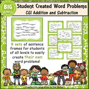 Word Problem Sentence Stem Started Frames CGI Add Subtract