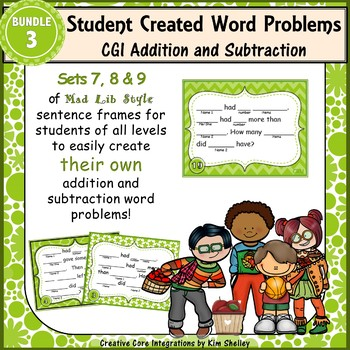 Word Problem Sentence Stem Started Frames CGI Add Subtract