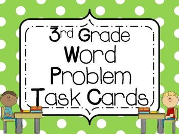 Word Problem Task Cards: 3rd Grade **All Standards**