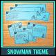 Word Problem Task Cards (Snowmen!)