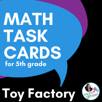 Task Cards Word Problems for 5th Grade Toy Theme