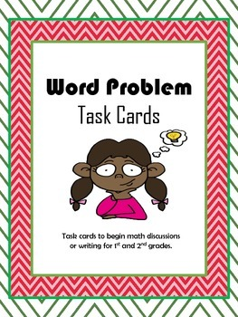 Word Problem Task Cards for Math Talks, Writing, and Games