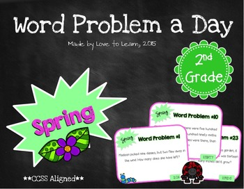 Word Problem a Day - 2nd Grade (Spring)