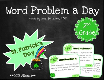 Word Problem a Day - 2nd Grade (St. Patrick's Day)