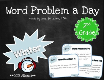 Word Problem a Day - 2nd Grade (Winter)