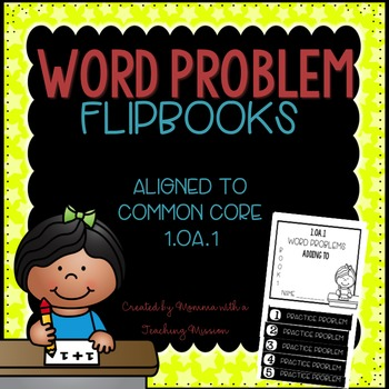 Word Problems 1.OA.1 Adding To Mini Flip Book Foldable