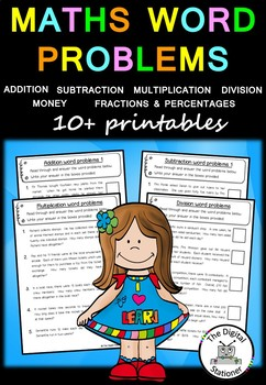 Maths Word Problems – 10+ worksheets