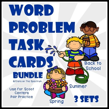 Word Problems (Spring, Summer, Back to School)