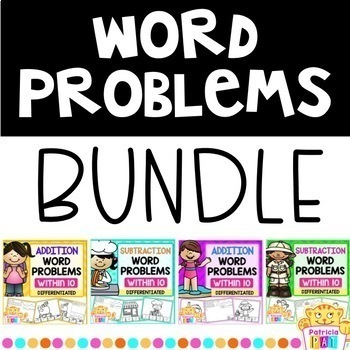 Color by Code Word Problems Bundle Differentiated
