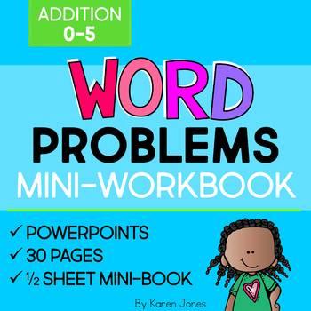 Word Problems: Addition 0-5 Mini-Workbook