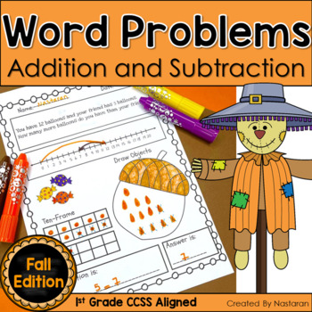 Word Problems In Fall Addition & Subtraction