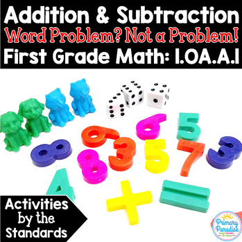 Word Problems Addition & Subtraction:  1.OA.A.1 Common Cor
