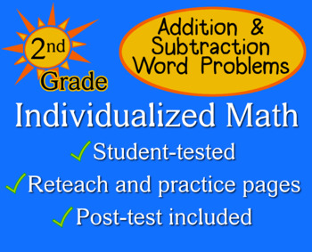 Word Problems, Addition & Subtraction - Individualized Mat