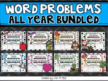 Word Problems All Year Bundled