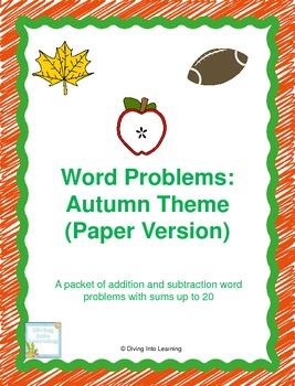 Word Problems: Autumn Theme (First Grade)